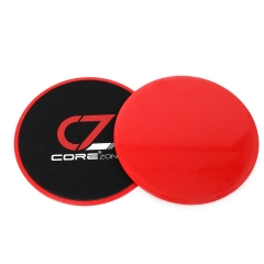 Fitness Core Sliders x2 - Double Sided Sliding Discs For Abdominal Exercise