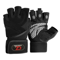 Workout Gloves with Wrist Straps